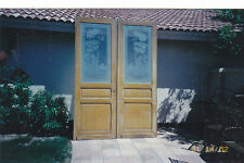 New listing Antique, c.1850, pair of etched glass door/window panels Victorian, orig. London