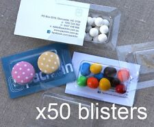 x50 BLISTER PACKS (empty) for wedding bomboniere, gifts, product packaging NEW
