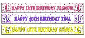 PERSONALISED BANNERS NAME AGE PHOTOS BIRTHDAY PARTY 1ST 2ND 3RD 4TH 5TH 6TH A2