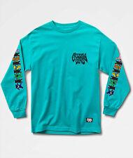 Grateful Dead Grizzly Men L/S T-Shirt PARADIGM Skate AQUA BLUE Bears S-2XL $40