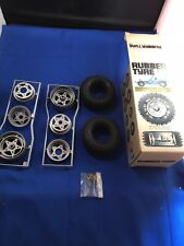 Tamiya Vintage Wheels Tyres Rc Car Spares Boxed Old Roughrider Fav Wild One New