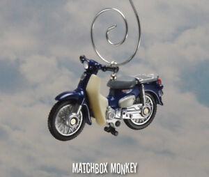 Honda Super Cub Moped Motorcycle Dirt Bike 50cc Custom Christmas Ornament 1:33