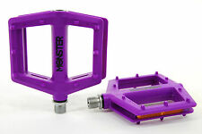 Redline Monster Bicycle Pedals Nylon Lo-Profile Platform BMX Bike, Purple