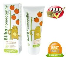Bilka HOMEOPATHY Kids 2+ORGANIC Toothpaste Fluoride&Sugar Free safe&tasty 50ml.