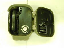 vtg OUTDOOR TELEPHONE by Automatic Electric Northlake Ill. w/ Cast Aluminum Case