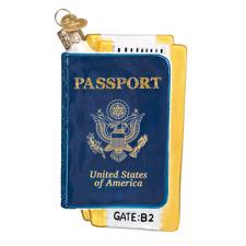 """Passport"" (36234)X Old World Christmas Glass Ornament w/ OWC Box"