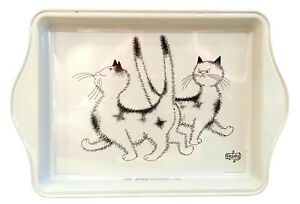 Dubout Cats Heck, The Same Dress Metal Scatter Tray Serving Dish Gift (Pimbeche)