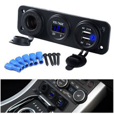 12V Digital Voltmeter Charger Dual USB 2.1A Car Cigarette Lighter Socket Power