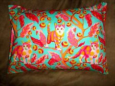 "CATS Turquoise TRAVEL/ACCENT/LUMBAR/CHILD PILLOW COVER 12"" X 16"""