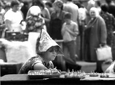 URSS , MARCHANDE D'AIL , MOSCOU 1990