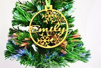 Personalised Wooden Christmas Tree Decoration Baubles
