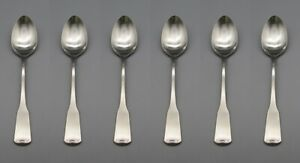 """SIX - Oneida Stainless American Colonial 7-1/4"""" Dessert Spoons -  USA Made READ"""