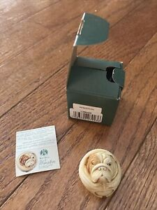 Harmony Kingdom WINSTON Bulldog Roly Poly Figurine Box Adam Binder TJRPHO2