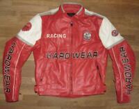 """ HARDWEAR "" Herren- Motorrad - Lederjacke / Biker- Jacke rot ca. Gr. 48"