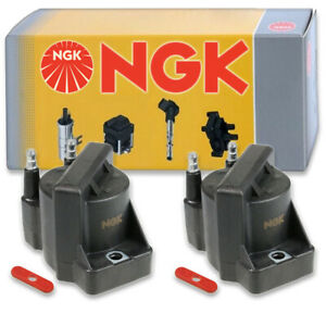 2 pcs NGK 48780 Ignition Coil for U3015 D555 48780 2505-77007 GN10123 DR39 we