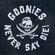 Goonies Family Skull Pirate Cros Sabers Never Say Die Car Decal Vinyl Sticker