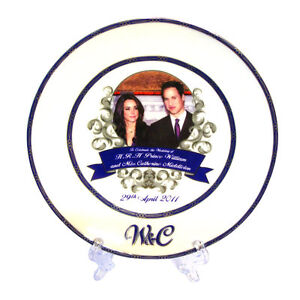 William and Catherine China Wedding Plate Collectable RW200