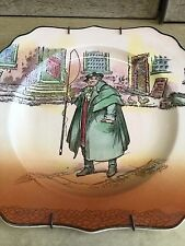 Royal Doulton Tony Weller Hand Painted Older Mark Dickens Series Square Plate
