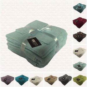 LUXURY 6 PIECE TOWEL BALE SET 100% EGYPTIAN COTTON FACE, HAND, BATH TOWELS