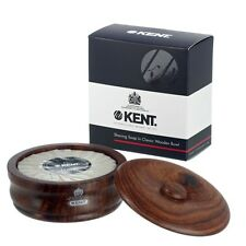Kent Dark Oak Wet Shaving Bowl & Soap SB3 120g Luxury - Lanolin - Same Day Post