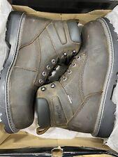 "Wolverine Men's Floorhand 6"" Waterproof Steel Toe Brown Work Boots Original New"