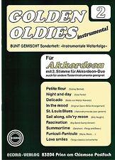 Akkordeon Noten : Golden Oldies 2 mittelschwer mit 2. Stimme (ad. lib.) ECORA