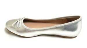 NEW! Sonoma Youth Girl's Seesaw Slip On Casual Ballet Flats Silver 119A