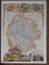Décoratif Livre Plaque Imprimer County Map of Herefordshire, par Thomas Moule 1830