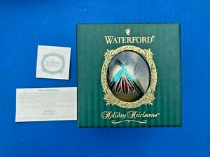 WATERFORD HOLIDAY HEIRLOOMS Christmas Ornament  ASHBOURNE BALL ~ MADE IN ITALY
