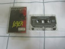 SLAYER decade of aggression  CASSETTE TAPE 2 only  1991 THRASH METAL