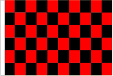 Red And Black Check 5' x 3' Large Sleeved Flag