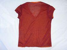 Sheer Red V-Neck Women's Blouse