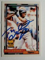 1992 Topps Milt Cuyler Autograph, Auto Card Tigers Red Sox Rangers Signed #522