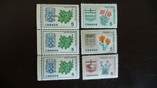 1964 MNH Canadian Provincial Flowers