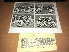 New York Giants vs. St. Louis Cardinals 1963 UPI Press Photo