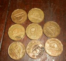 LOT OF 8 CANADA 1942 TOMBAC 5 CENTS NICKELS