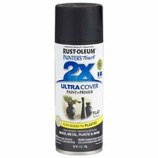 Spray Paint for Plastic and Metal Fast Drying Multi Purpose Flat Black 12 oz