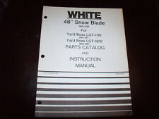 """White 48"""" Snow Blade Operator's Manual for LGT-1110 LGT-1610 Lawn Tractor"""