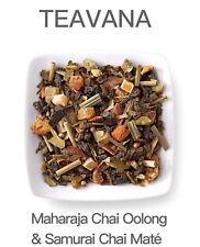 🌈🍊☕ NEW Factory Sealed Teavana 2oz Maharaja Chai Oolong Samurai Chai Mate Tea!