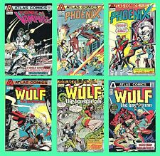 Atlas Comics [lot of 6,1975]    Phoenix, Wulf, Planet of Vampires    VG to NM