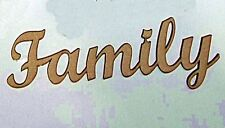 """Pack of 10 of the word """"Family""""  in 3mm MDF on Special price"""