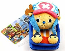 ONE PIECE Plush Fabric TONY CHOPPER Phone Camera CASE Anime Reindeer Character
