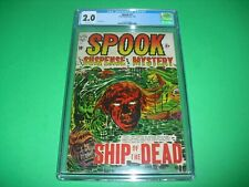 Spook #27 CGC 2.0 w/ OW pages 1954! LB Cole Pre Code Horror Classic not CBCS