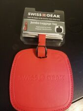 Swiss Gear Jumbo Luggage Tag Red NEW