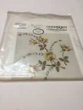 Lindhorst Tablecloth Embroidery Stamped Floral 39�x 39� Bozen Germany