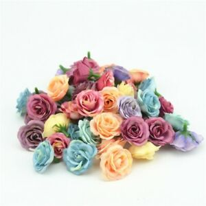Artificial Silk Flower Heads Fake Rose Wedding Home Party Decor Floral 10pcs