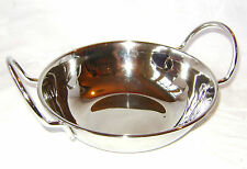 NEW STAINLESS STEEL BALTI DISH BOWL HANDLES INDIAN COOKERY 15 x 5cm APOLLO SALE!