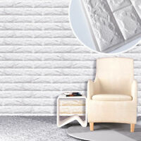 3D Tapete Selbstklebend Wandpaneele Ziegelstein Wasserdicht Wandaufkleber Weiß