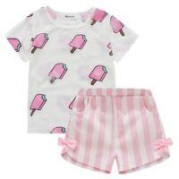 Baby Kids Girls T-Shirt Summer Clothes Outfits Short Sleeve Tops + Shorts Pants