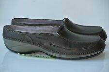 NEW Merrell Cima Womens Sz 6 Brown Leather Slip On Slides Shoes Loafers $95